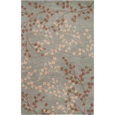 home depot rugs 8x10 home decorators collection blossoms blue 9 ft x 12 ft