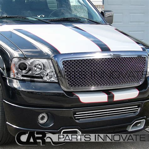 f150 halo lights 2006 2008 ford f150 chrome led projector headlights clear