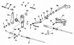 Evinrude 1996 35 - E35qledc  Throttle Linkage