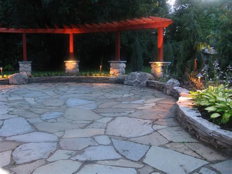 flagstone pit patio bluestone patio with flagstone and granite fire pit