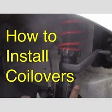 How To Install Coilover  How To Lower  Slammed Rsx Youtube