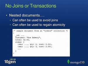 mongodb an introduction july 2011 With mongodb nested documents