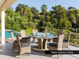 Table Ronde 8 Personnes : table de jardin hesp ride r sine ronde tress e libertad taupe ~ Teatrodelosmanantiales.com Idées de Décoration