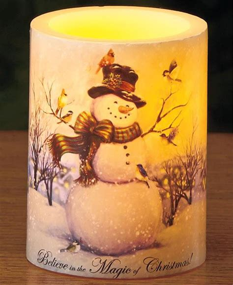 christmas flameless candles flameless led real wax pillar candle 5 avail great gift ebay