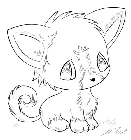 Anime Dog coloring page Free Printable Coloring Pages