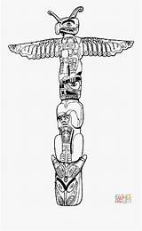 Totem Coloring Pole Kleurplaat Clipart Pages Clipartkey Edupics Afbeelding Grote sketch template