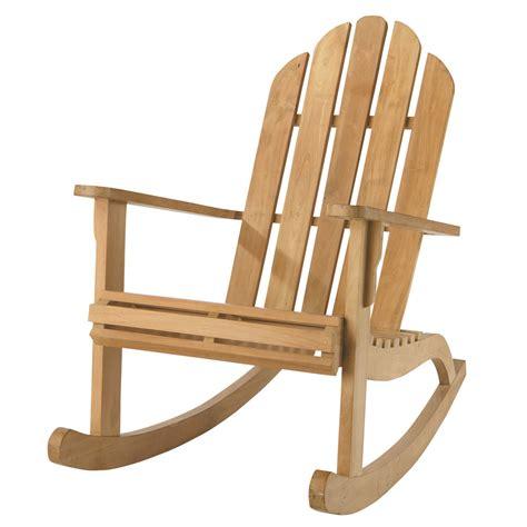siege bascule fauteuil de jardin à bascule teck providence maisons du