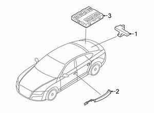 Audi A4 Keyless Entry Antenna  Rear  Door  Console