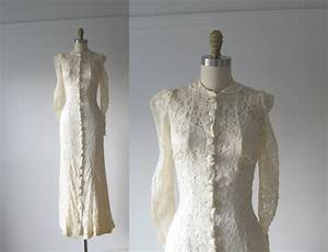 vintage 1930s wedding dress 30s lace dress With robe de mariée retro