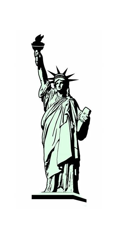 Liberty Statue Illustration Clipart Liberte Domain Publicdomainpictures
