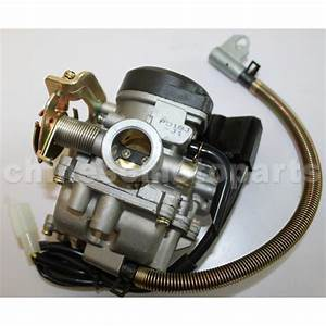 Keihin 18mm Carburetor With Acceleration Pump For Gy6 50cc Moped   N090-016