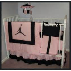 michael jordan pink black crib bedding set