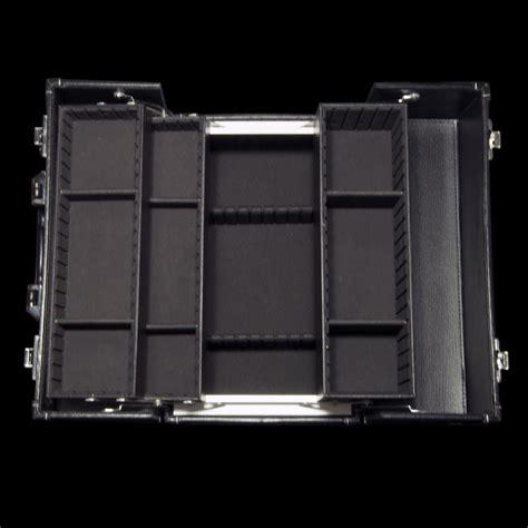 maquillage malette de rangement pour le maquillage en cuir noir faces cosm 233 tiques