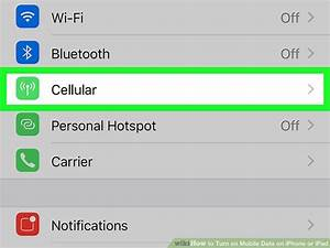 How To Turn On Mobile Data On Iphone Or Ipad  5 Steps