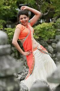 Kajal Agarwal in half Saree from Jilla movie | Stylish ...