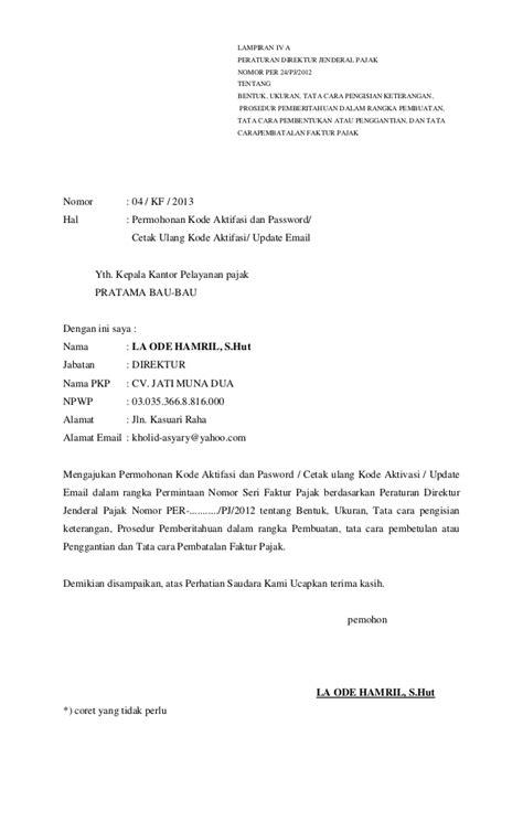 contoh surat faktur pajak tidak terpakai contoh surat pemberitahuan pembatalan faktur pajak ke kpp viral news top