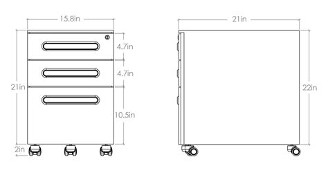 File Cabinet Sizes by Filing Cabinet Dimensions Standingdesktopper