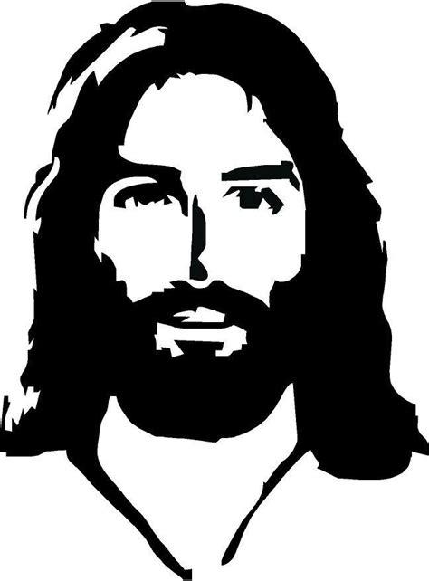Jesus Face Vinyl Decal | Jesus artwork, Jesus face, Jesus