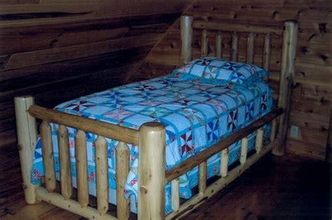 custom rustic cedar log beds