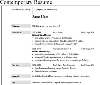 ms resume step 6 contemporary microsoft resume template