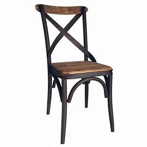 Chaises Scandinaves Ikea : chaise bistrot artisanale en fer vieilli et orme massif ~ Teatrodelosmanantiales.com Idées de Décoration