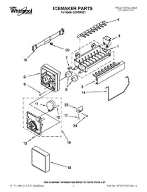 parts  whirlpool eckmfez ice maker appliancepartsproscom