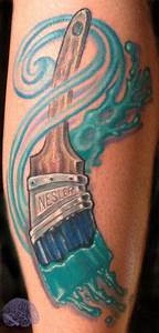 House paint brush color tattoo by Phil Robertson: Tattoo ...