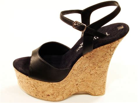Tony Shoes W513 High Helel Cork Wedge Platform Sandals