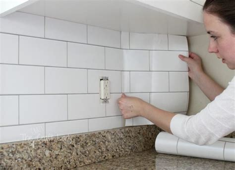diy tile kitchen backsplash removable backsplash rental solutions 11 ideas for a