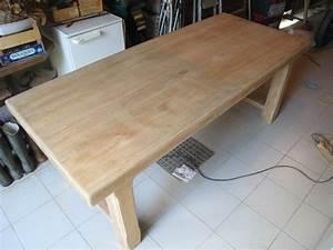 Comment Blanchir Du Bois : eclaircir une table en ch ne patines couleurs ~ Melissatoandfro.com Idées de Décoration