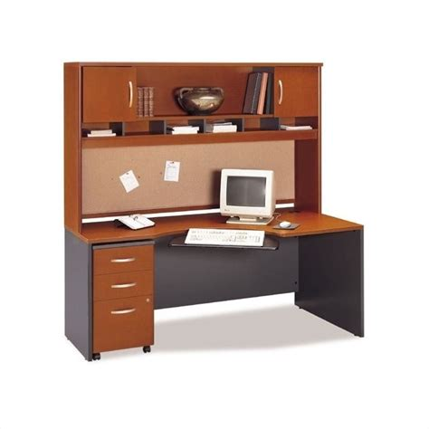 home computer desk with hutch bush business home office computer desk set with hutch in