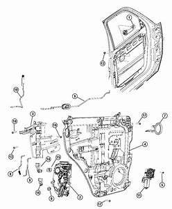 2008 Jeep Liberty Motor  Window Regulator  2 Pin  Left