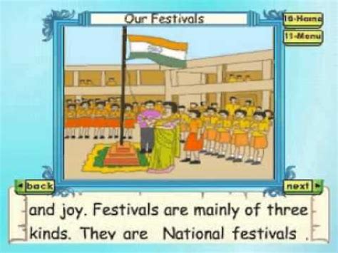 learn evs class 3 our festivals part 1 animation