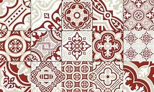 Carreaux De Ciment Rouge : tapis vinyle carreaux de ciment madeleine brique ~ Melissatoandfro.com Idées de Décoration