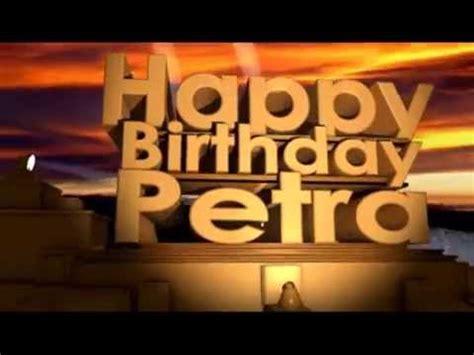 happy birthday petra youtube