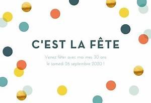 Mettre Une Annonce Gratuite : invitation anniversaire confettis chic popcarte ~ Medecine-chirurgie-esthetiques.com Avis de Voitures