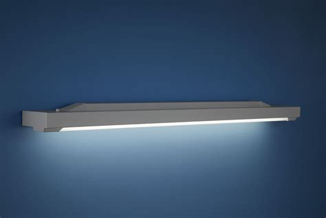 Fluorescent Light by Surface Mounted Light Fixture Fluorescent Linear Bathroom
