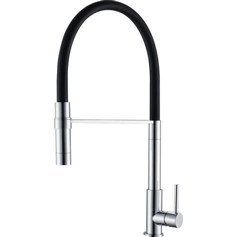 modern pull out spray kitchen sink mixer tap black