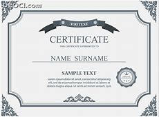 Certificate Design Template Gray Pattern Style Vector