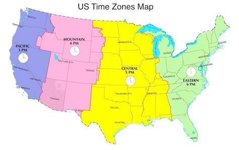 map united states divided time zones pictures pin