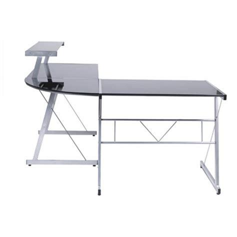 bureau d angle bureau d 39 angle design chili en acier et verre sécurit