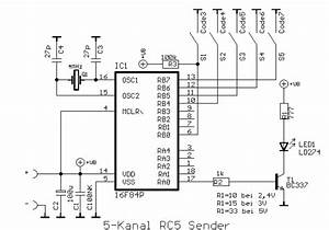 Several Rc5 Infrared Transmitter Circuit Diagram Schematic