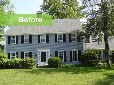 before and after 70s colonial gets modern update