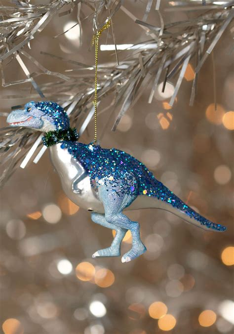 cretaceous christmas dinosaur ornaments