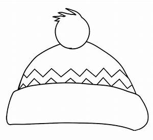 winter hat coloring page preschool winter fun With snow hat template