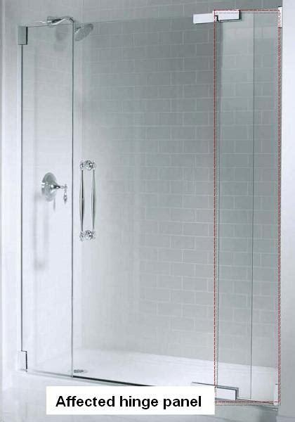 Kohler Glass Shower Door - kohler co announces recall of shower doors due to