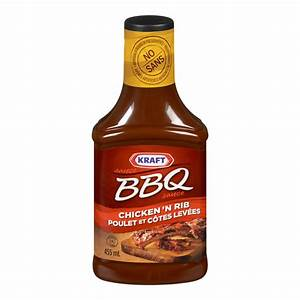 Kraft BBQ Sauce Chicken & Rib 455ml