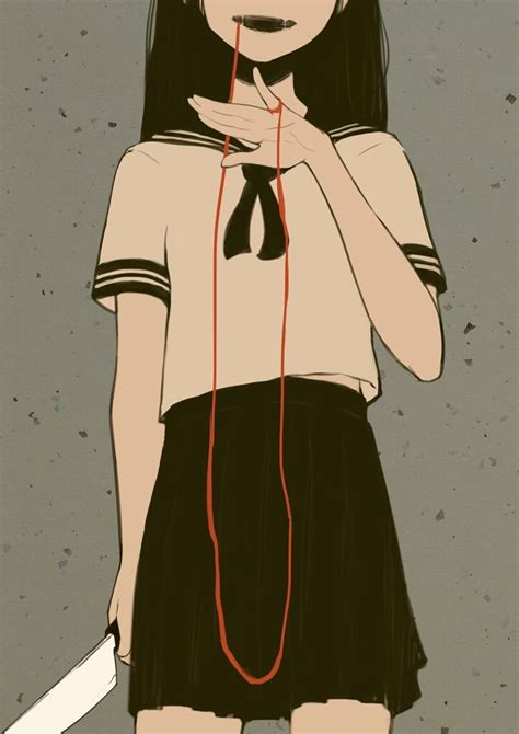 yandere girl dibujos de anime dibujos de terror  fotos