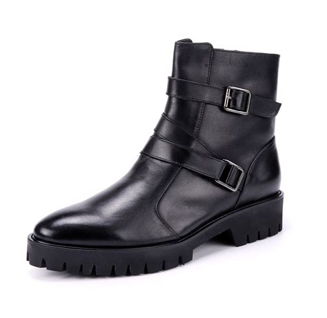 slip on motorcycle boots new real leather men 39 s motorcycle boots formal shoes