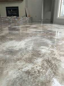 Concrete stain flooring pole barn designs pinterest for How to remove rust stains from concrete floor